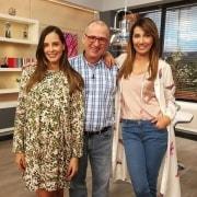 Laura Acuña, Jota Mario Valencia y Adriana Betancur, presentadores.