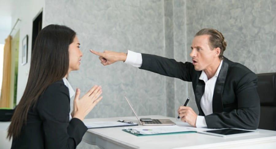 Mala entrevista de trabajo