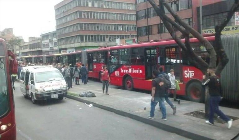 Choque de buses de Transmilenio