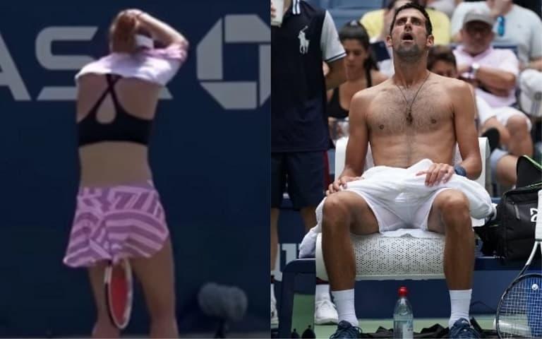 Alizé Cornet y Novak Djokovic