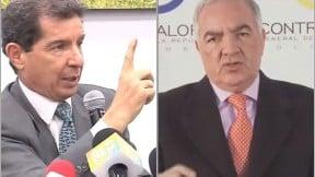 José Félix Lafaurie, presidente de Fedegán, y Edgardo Maya Villazón, Contralor