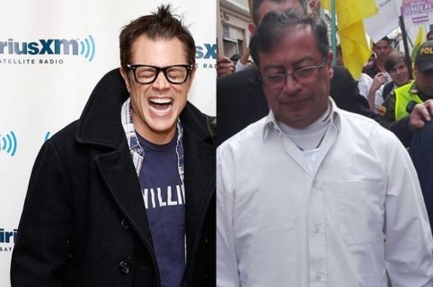 Johnny Knoxville y Gustavo Petro
