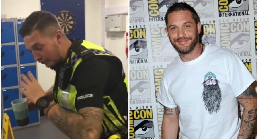Policía guapo / Tom Hardy.