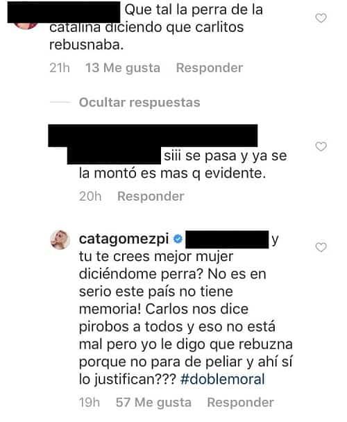 Comentarios Catalina Gómez