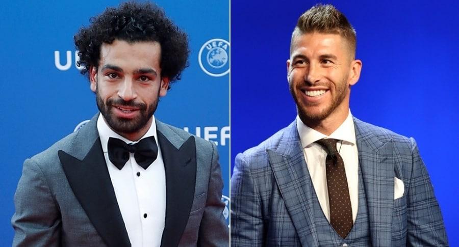 Mohamed Salah y Sergio Ramos
