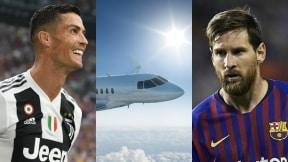 Cristiano Ronaldo avión privado Lionel Messi