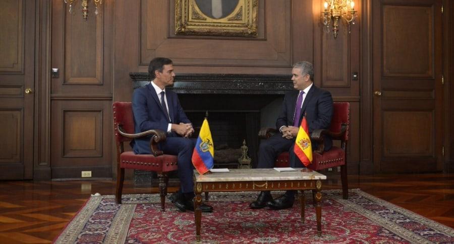 Iván Duque y Pedro Sánchez