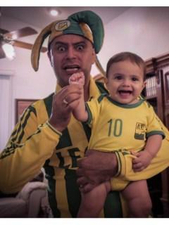 José Ordóñez y su nieto
