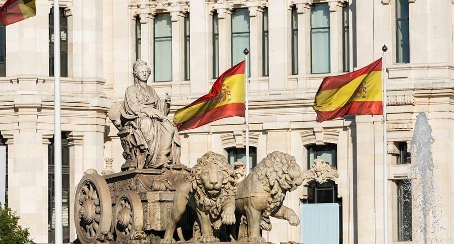 Fuente de Cibeles en Madrid, España
