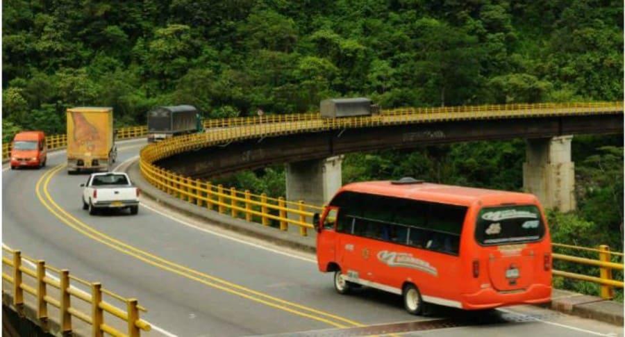 Vía Bogotá- Villavicencio