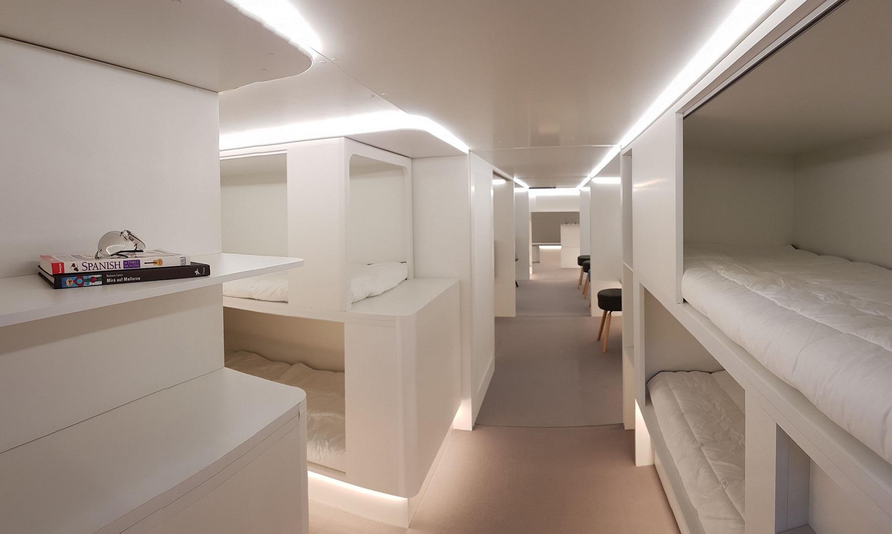 Camas en avión de Airbus
