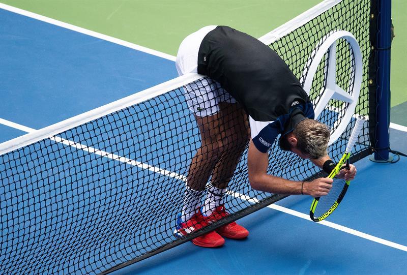 Frustración de Benoit Paire en partido de US Open