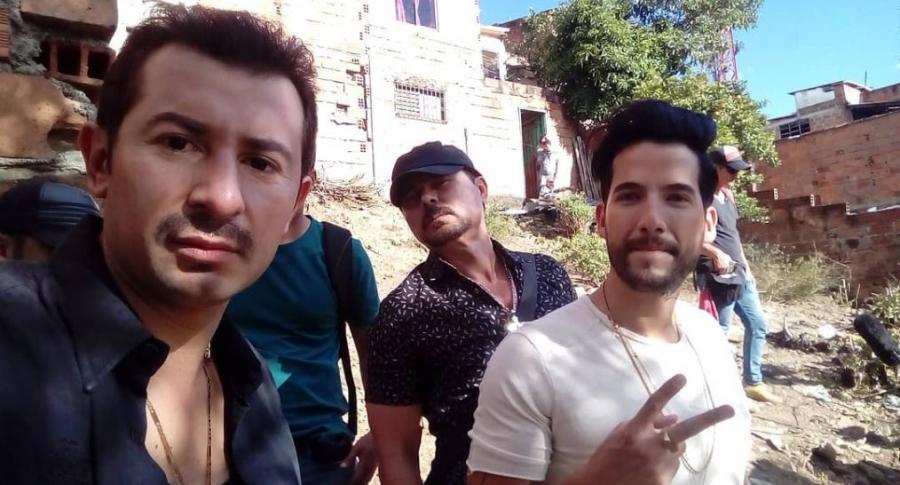 'Pacho' Rueda, 'Lucho' Velasco, y Carlos Torres, actores.