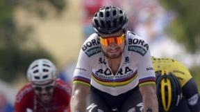 Peter Sagan y Alejandro Valverde en la definición de la etapa 8