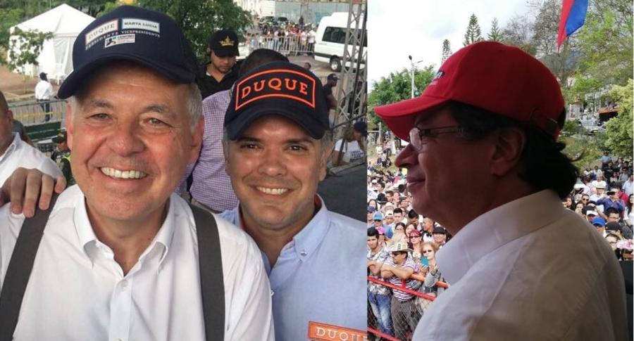 Alejandro Ordóñez, Iván Duque y Gustavo Petro