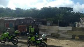 Zona acordonada de Barranquilla