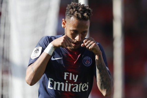 Neymar celebrando su gol ante Nimes