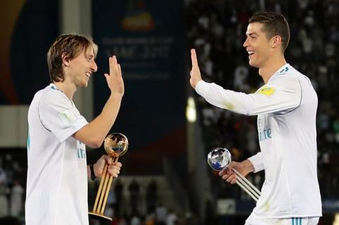 Cristiano Ronaldo y Luka Modric