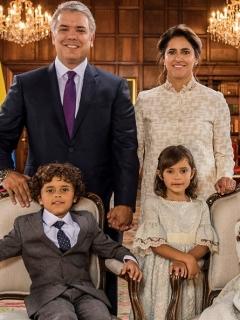 El presidente Iván Duque y su familia