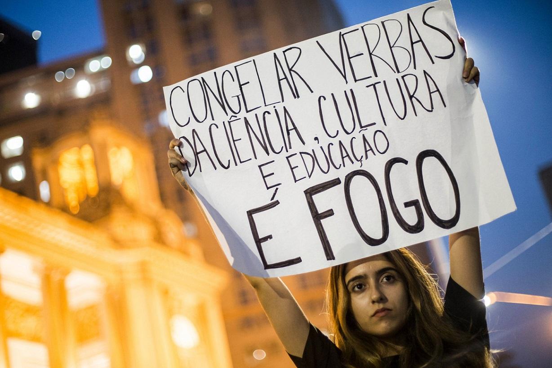 Protestas por incendio en el Museo Nacional de Río de Janeiro