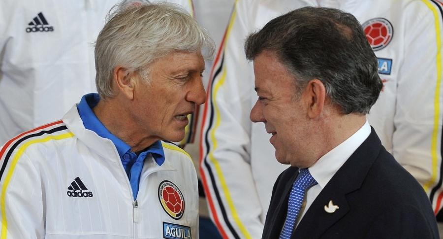 José Pékerman y Juan Manuel Santos