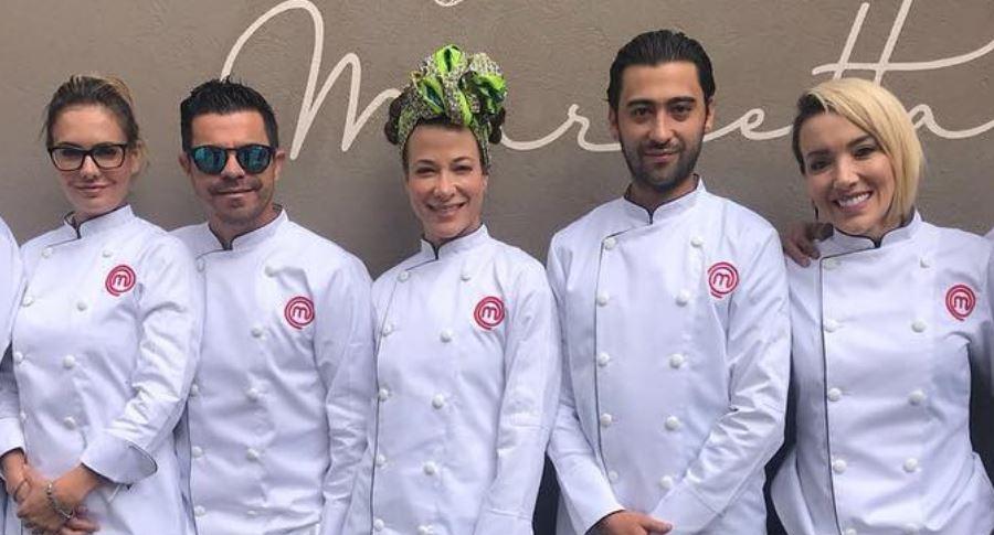 María José Martínez, Piter Albeiro, Estefanía Gómez, Variel Sánchez y Catalina Gómez, participantes de 'Masterchef' 2018.