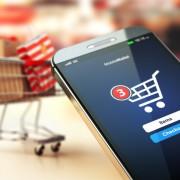 Celular y carro de compras