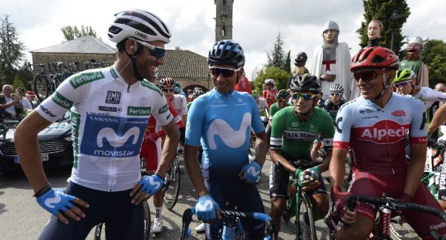 Alejandro Valverde, Nairo Quintana , Nelson Soto y Jhonatan Restrepo