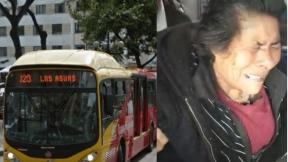 Abuelita estrujada y pisoteada en bus de Transmilenio