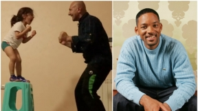 Padre anima a su hijo / Will Smith.