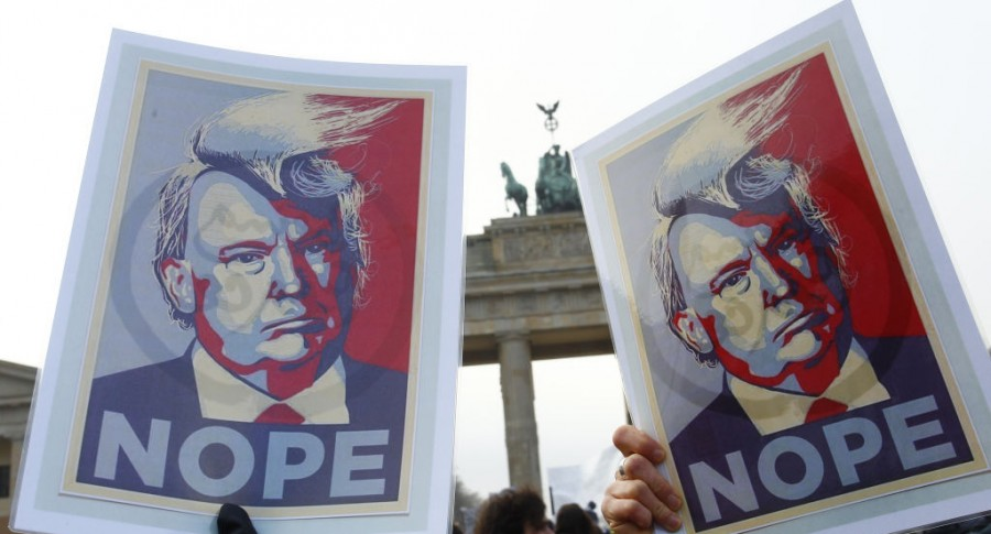 Manifestación contra Donald Trump