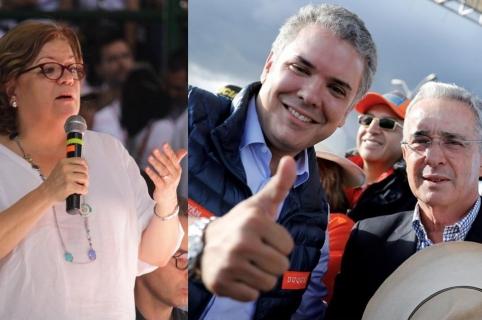 Gloria María Borrero, Iván Duque, Álvaro Uribe
