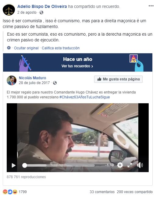 Publicación Adélio Bispo de Oliveira