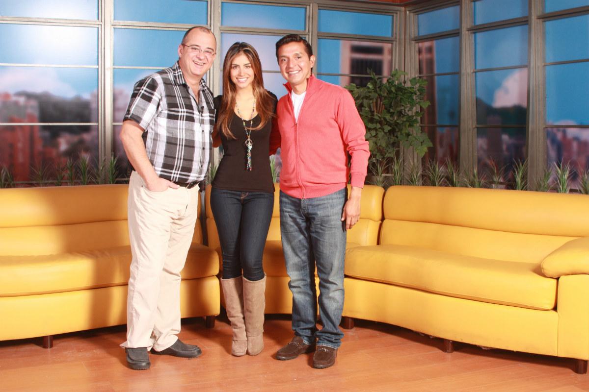 Jota Mario, Jessica Cediel y el padre 'Chucho'