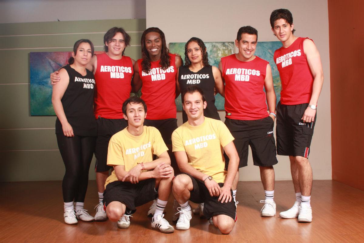 Nerú y su equipo de aeróbicos de 'Muy buenos días'