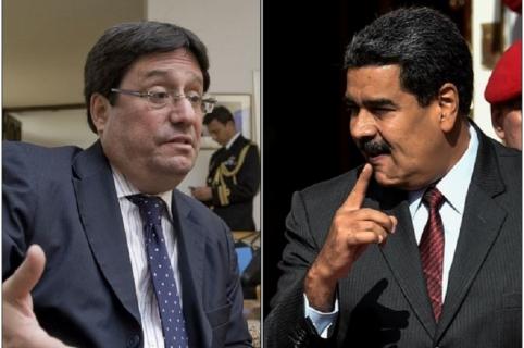 Francisco Santos y Nicolás Maduro
