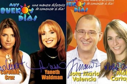 Carolina Cruz, Yaneth Waldman, Jota Mario Valencia y Mabel Cartagena, presentadores.1
