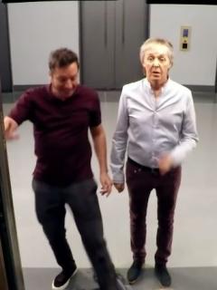 Jimmy Fallon y sir Paul McCartney