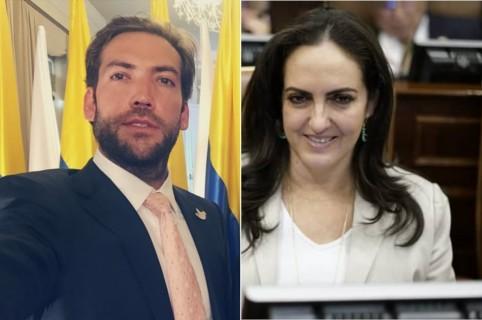 Martín Santos y María Fernanda Cabal, senadora.