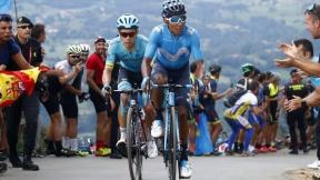 Nairo Quintana y 'Supermán' López en la etapa 14