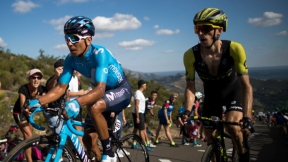 Nairo Quintana y Simon Yates