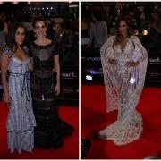 La 'youtuber' Luisa Fernanda W con su novio, el cantante Legarda; y las actrices Londoño y Catherine Siachoque.