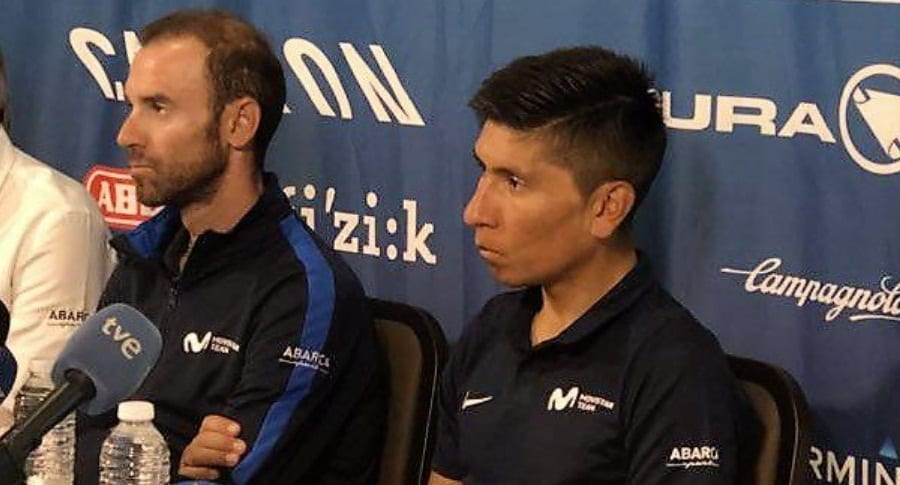 Alejandro Valverde y Nairo Quintana