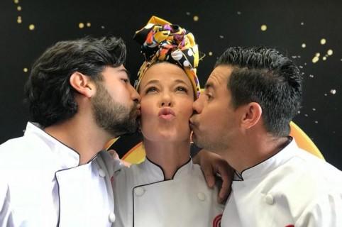 Variel Sánchez, Estefanía Borge y Piter Albeiro