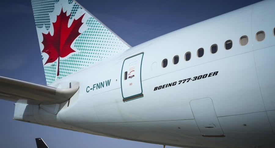 Avión de Air Canada