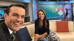 Juan Diego Alvira y Mónica Jaramillo, presentadores.