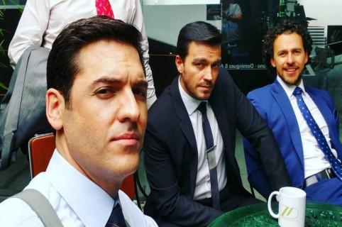 Rodrigo Candamil, Luciano D'Alessandro e Iván López, actores.