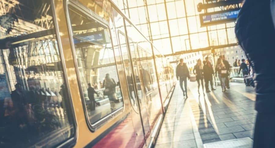 Estación de metro en Alemania.