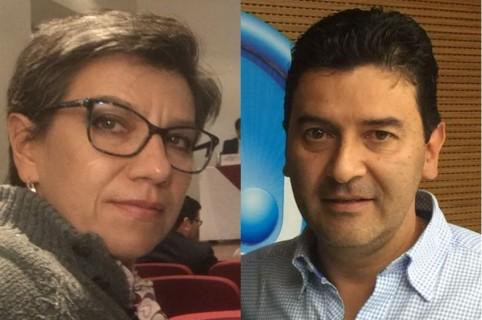 Claudia López y Néstor Morales