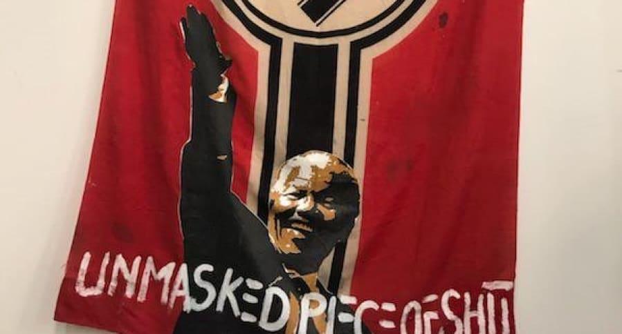 Obra sobre Nelson Mandela